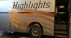 Har brinner dansbandets buss